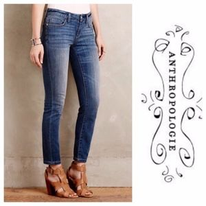 Anthropologie | Pilcro Stet Fit Ankle Crop Jeans